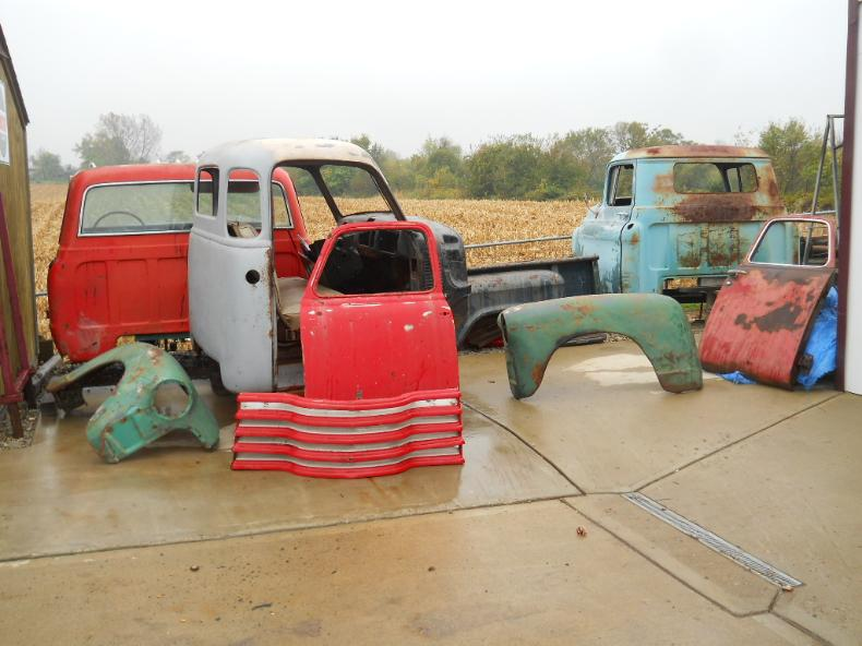 Good to rust free sheet metal for 47 to 72 Chevy trucks cabs fenders beds